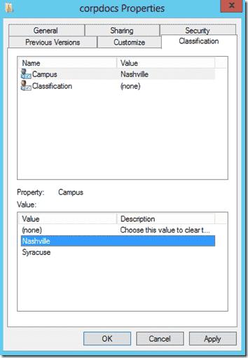 Tagging a shared folder