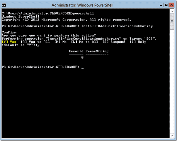 Install-ADCSCertificationAuthority