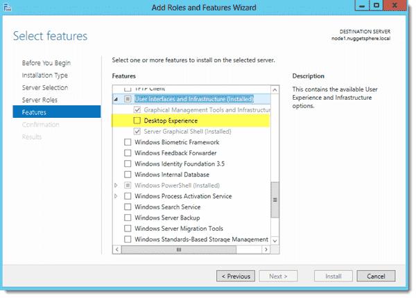Install Desktop Experience
