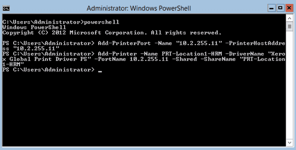 Install Printer with PowerShell