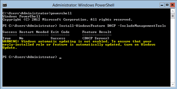 Install a DHCP Server with PowerShell