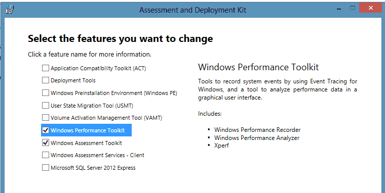 Installing the Windows Performance-Toolkit