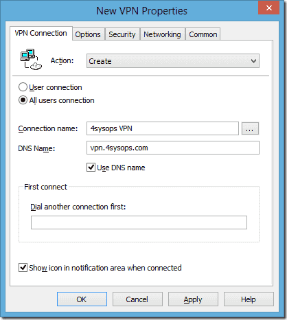 Deploying VPN connections to Windows 7 and 8 with Group