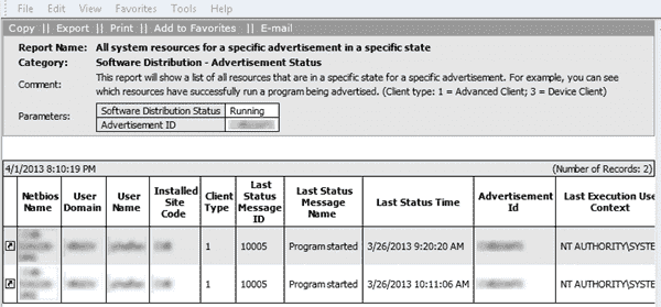 SCCM 2007 Status Messages 1