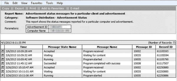 SCCM 2007 Status Messages 2