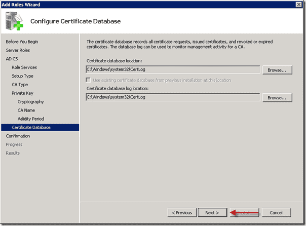 Certificate Database