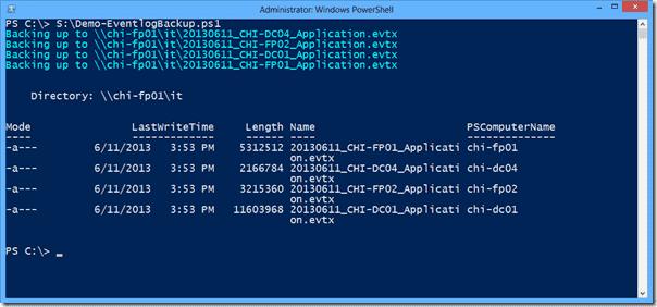 EventLog - Remote backup 2