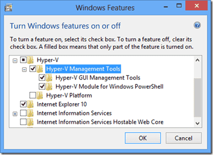 HyperV Tools Windows 8