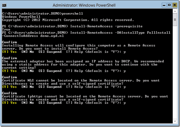 Install Remote Access