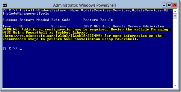 SQL Server as WSUS database
