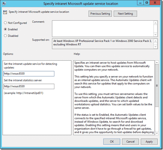 Setting up Group Policy