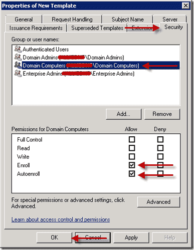 How to deploy certificates with group policy part 2 for Computer security policy template