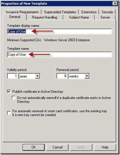 Template Duplicate User Template General