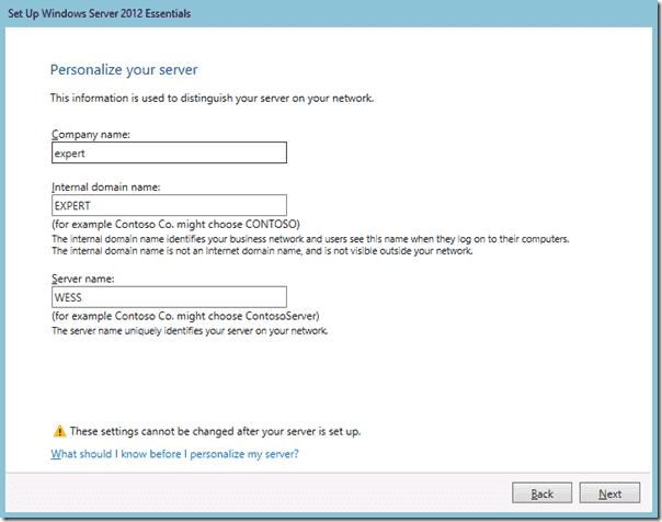 Windows Server 2012 Essentials - Installation