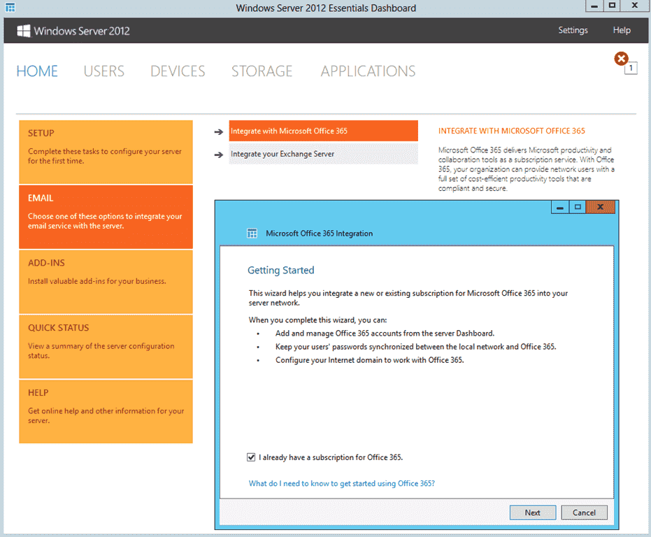 Windows Server Essentials 2012 – Part 2: Cloud and On
