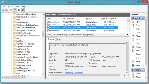 Group Policy Caching - EventViewer 5216