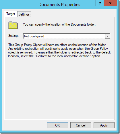 Location of the document folder not configured