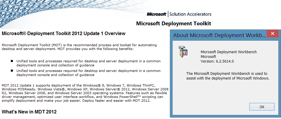 Microsoft Deployment Toolkit (MDT) 2013 – New Features and issues