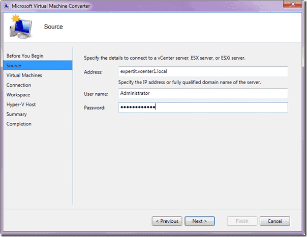 Microsoft Virtual Machine Converter -Source