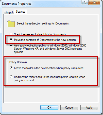 How to disable folder redirection 4sysops for My documents redirection not working