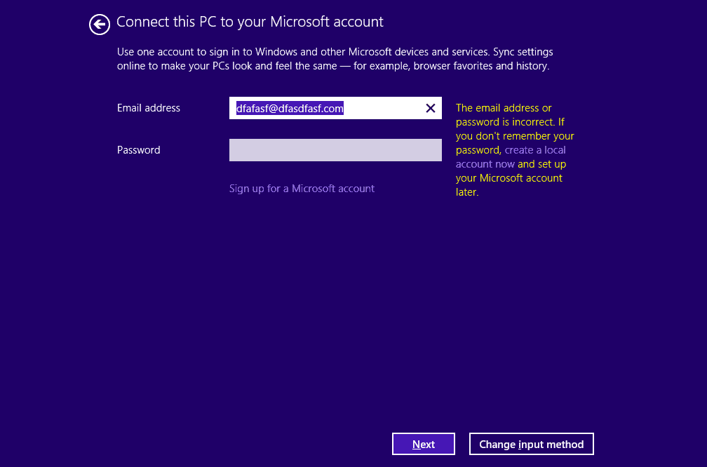 how to change email address in login to windows 8.1