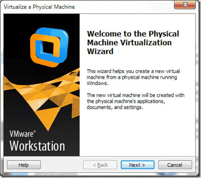 virtualize a physical machine