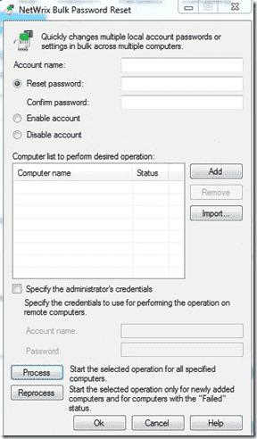 Bulk Password Reset