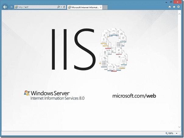 Default IIS page