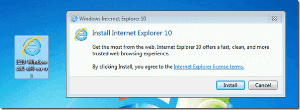 Install Internet Explorer manually
