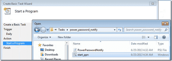 Schedule the PowerShell script