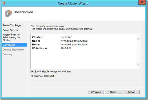 Create Cluster 6