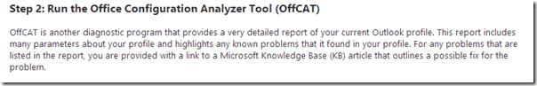 OffCAT report