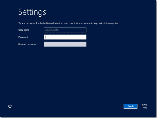 Set Windows Server 2012 password