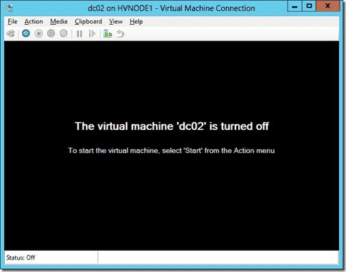 Start virtual machine