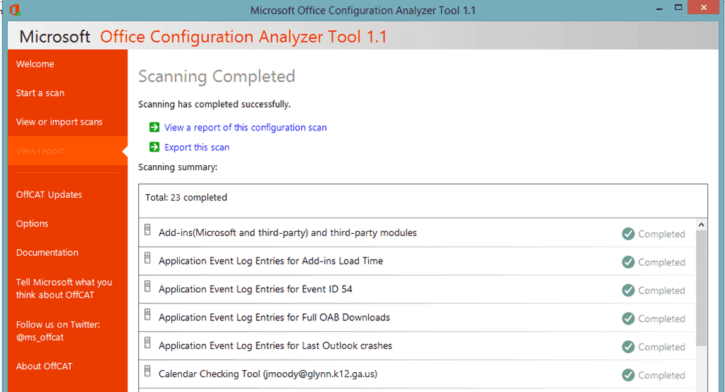 FREE: Microsoft OffCAT – Office Configuration Analyzer Tool