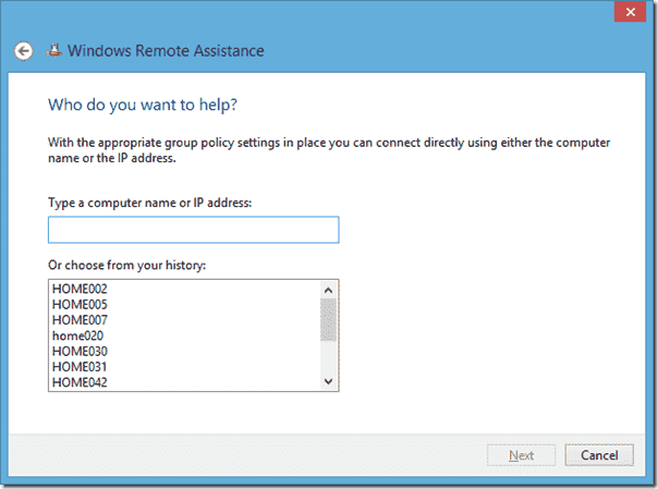 Windows Remote Assistance
