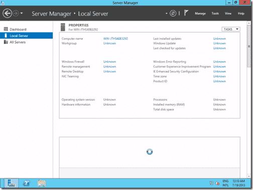 Windows Server 2012 - Server Manager
