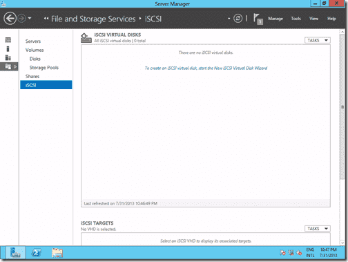 iSCSI virtual disks