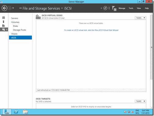 iSCSI virtual disks