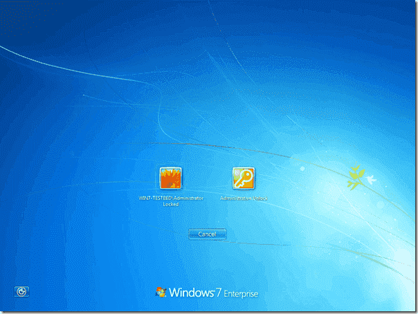 Administrative Unlock in Windows 7