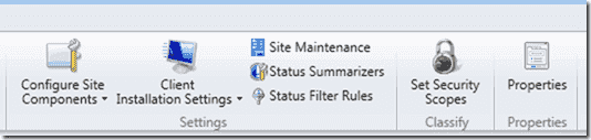 Site Maintenance is located within the top toolbar