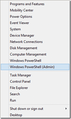 WINX menu with PowerShell
