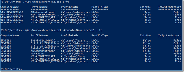 Get user profile information with PowerShell