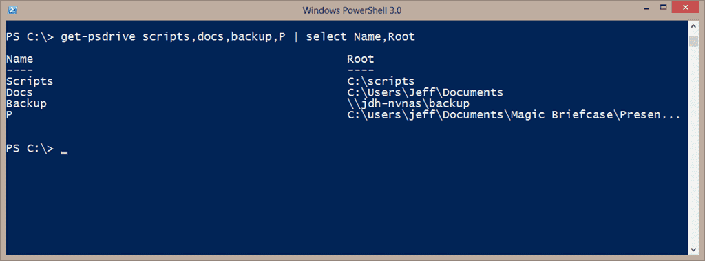 PowerShell PSDrive in practice – 4sysops
