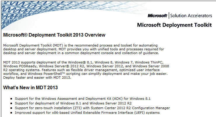 How to upgrade to the Microsoft Deployment Toolkit (MDT) 2013 – 4sysops