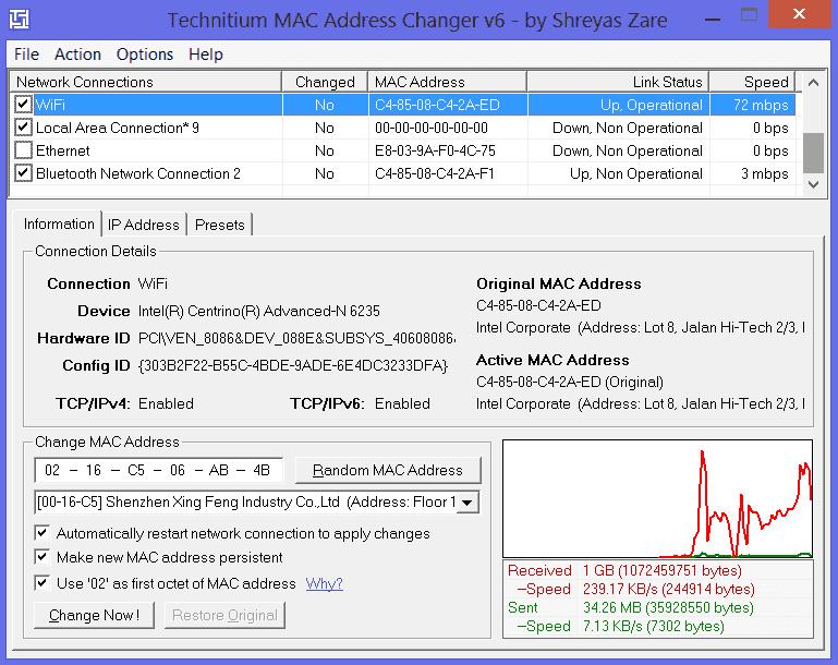 WatFile.com Download Free mac address is by using the free technitium mac address changer tool