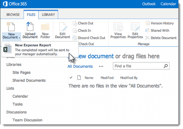 301 moved permanently for Document library content type