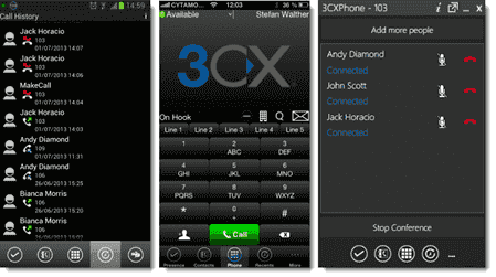 3CX Phone mobile apps
