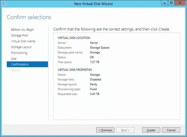 Windows Server 2012 R2 Essentials Storage