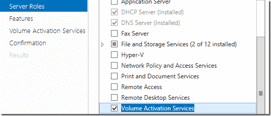 Installing Volume Activation Services